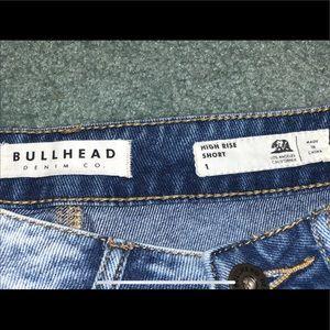 Bullhead high waisted  denim shorts size 1